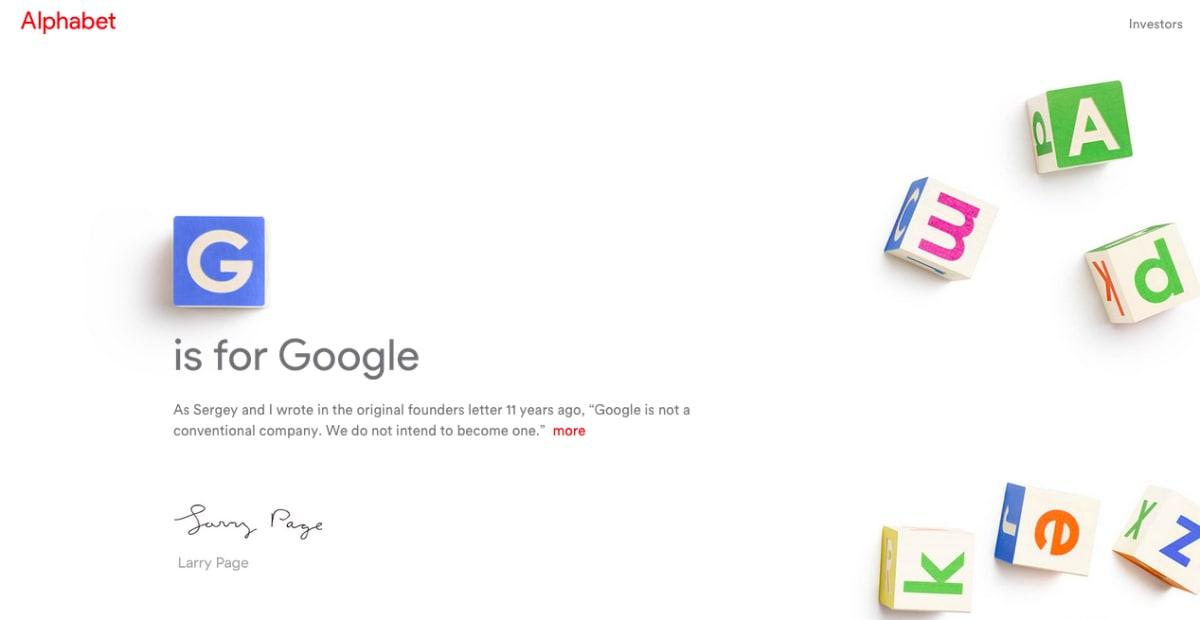 Google 结构重整,成为一间名为「Alphabet」公司的子公司,并由 Sundar Pichai 担任 CEO