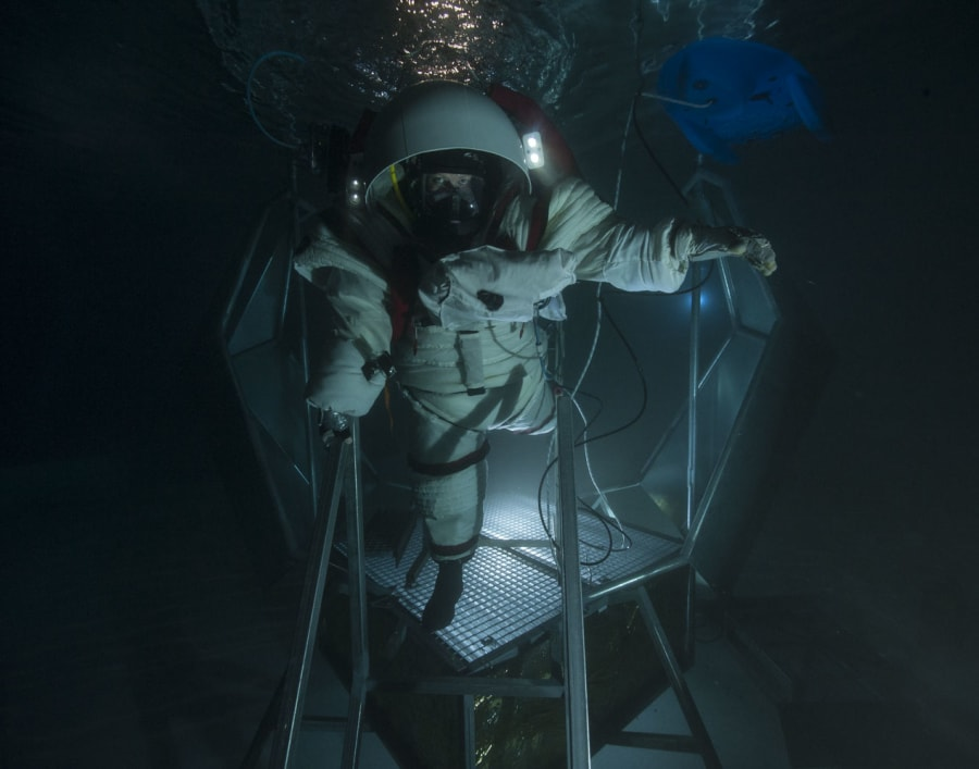 Dr Pell just finished testing a suit in an underwater environment in Marseilles, France as part of Project