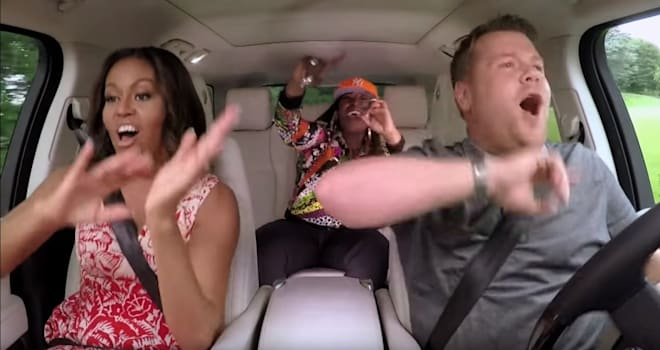 carpool karaoke, michelle obama, missy elliott, james corden, the late late show