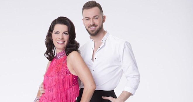 "DANCING WITH THE STARS - NANCY KERRIGAN WITH ARTEM CHIGVINTSEV- The celebrity cast of ""Dancing with the Stars"" are donning their glitzy wardrobe and slipping on their dancing shoes as they ready themselves for their first dance on the ballroom floor, as the season kicks off on MONDAY, MARCH 20 (8:00-10:01 p.m. EST), on the ABC Television Network. (ABC/Craig Sjodin)"