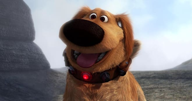 up, dug, talking dog, real life, pixar