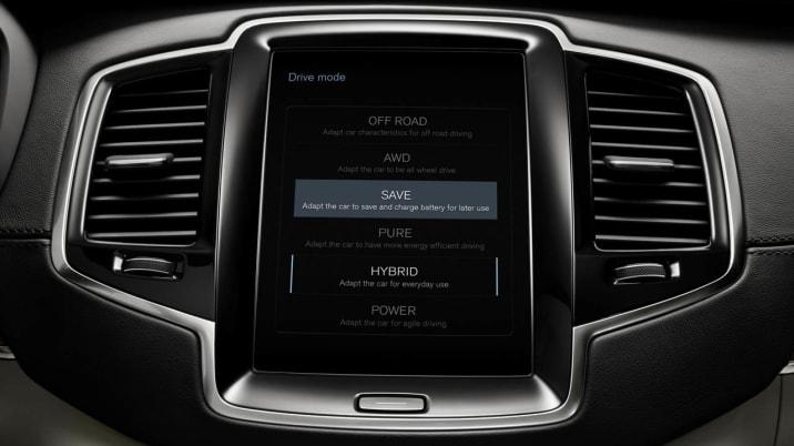 Volvo XC90 PHEV infotainment screen
