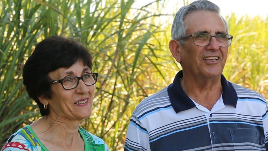 Angelina and Orazio Marino on their farm in