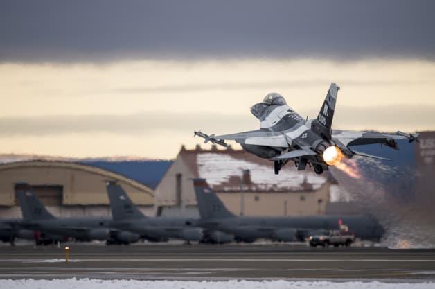 Eielson Alaska RED FLAG F-16 Falcon Aggressor