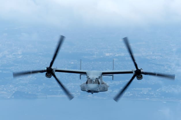 Yokota 374th Airlift Wing Osprey MV-22 HA/DR Marine Japan III MEF humanitarian disaster exercise
