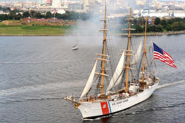 USCG Coast Guard US Coast Guard Barque Eagle Star Spangled 200 Baltimore Maryland Fritts