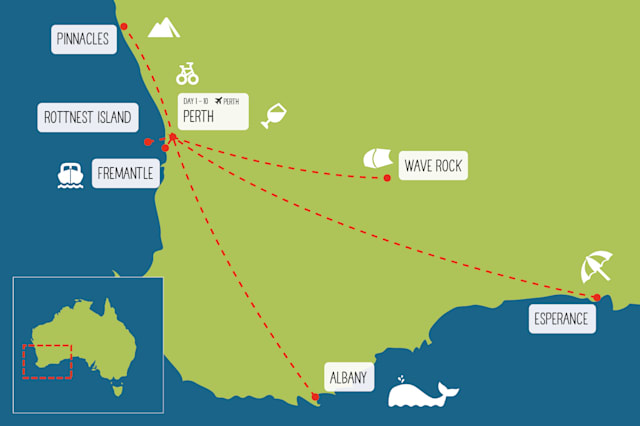 Campervanning near Perth itinerary