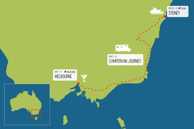 Melbourne to Sydney Coastal Road