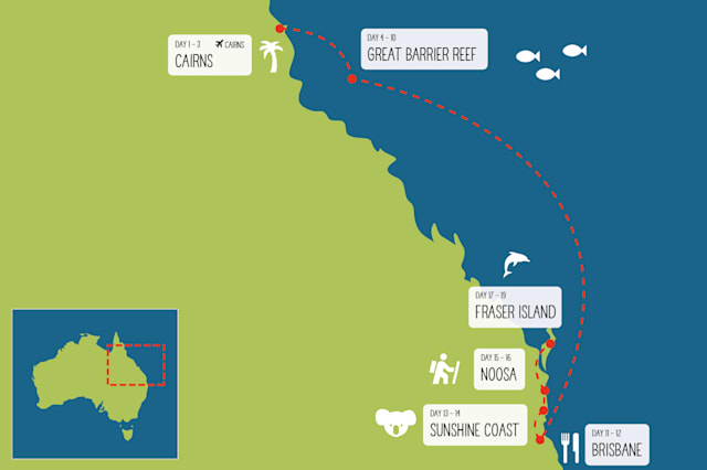Queensland Coast and Reef itinerary