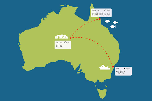 Sydney, Rock and Reef itinerary