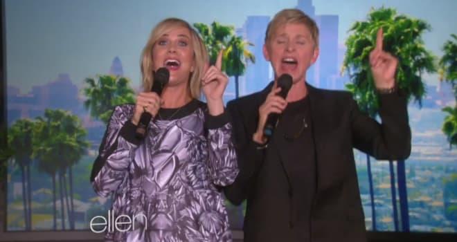 Kristen Wiig, Ellen DeGeneres, Let It Go, Frozen, Ellen
