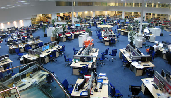 Newsroom panorama