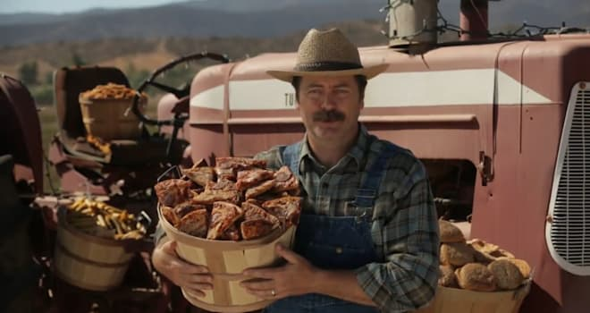 nick offerman, pizza farm