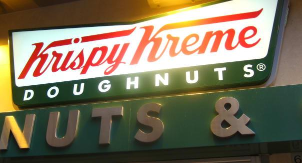 Krispy Kreme Doughnuts sign logo