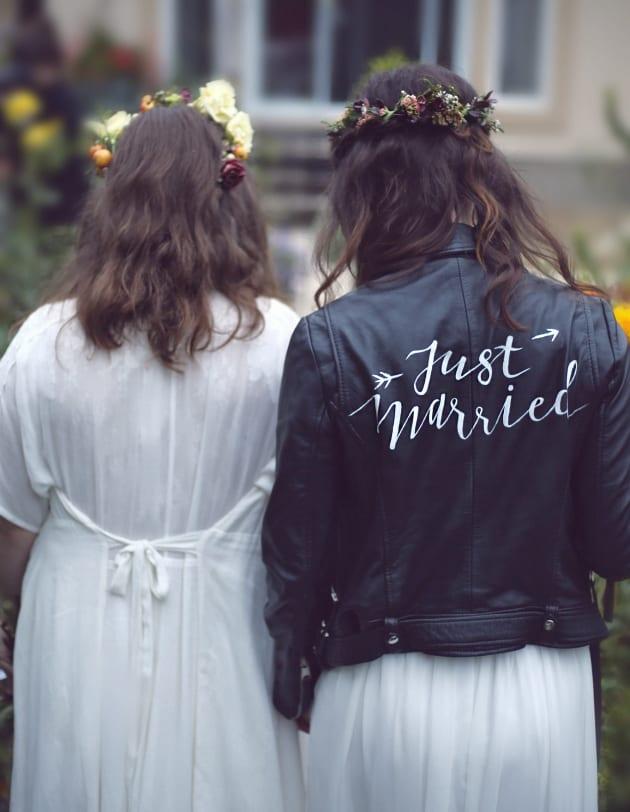 Amanda and Sarah Lake on their wedding