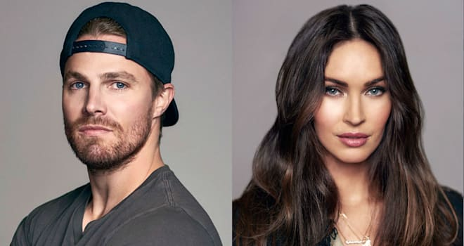TMNT2 stars Stephen Amell and Megan Fox