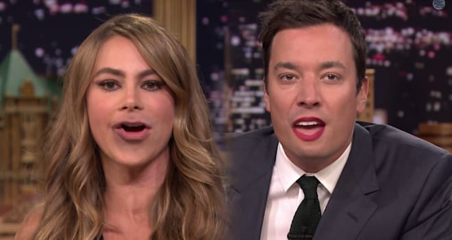 Sofia Vergara, Lip Flip, Jimmy Fallon, Tonight Show