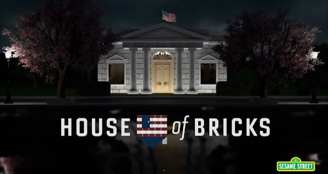 House of Bricks, Sesame Street, House of Cards parody