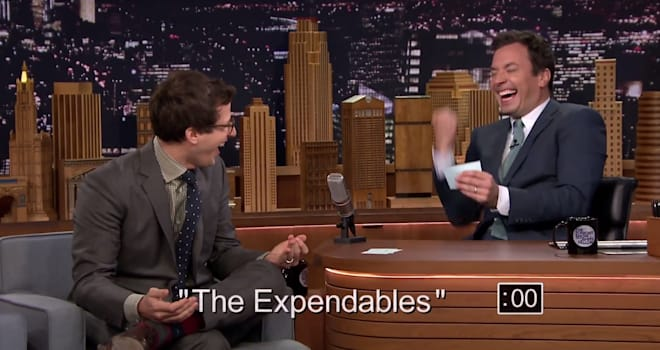 Andy Samberg, Jimmy Fallon, The Tonight Show, 5-Second Summaries