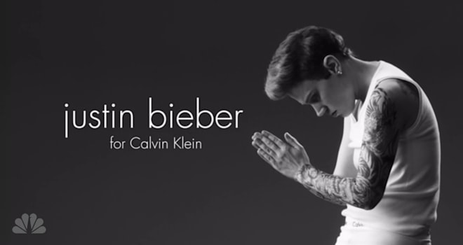 Kate McKinnon, Justin Bieber, Saturday Night Live, Calvin Klein parody
