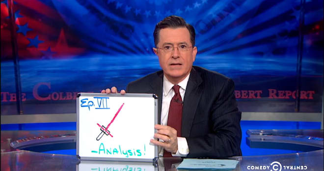 Stephen Colbert, Colbert Report, Star Wars: The Force Awakens