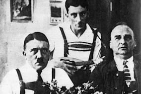 Adolf Hitler in traditional costume