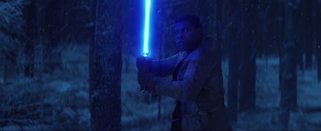Star Wars: The Force AwakensFinn (John Boyega)Ph: Film Frame© 2014 Lucasfilm Ltd. & TM. All Right Reserved.