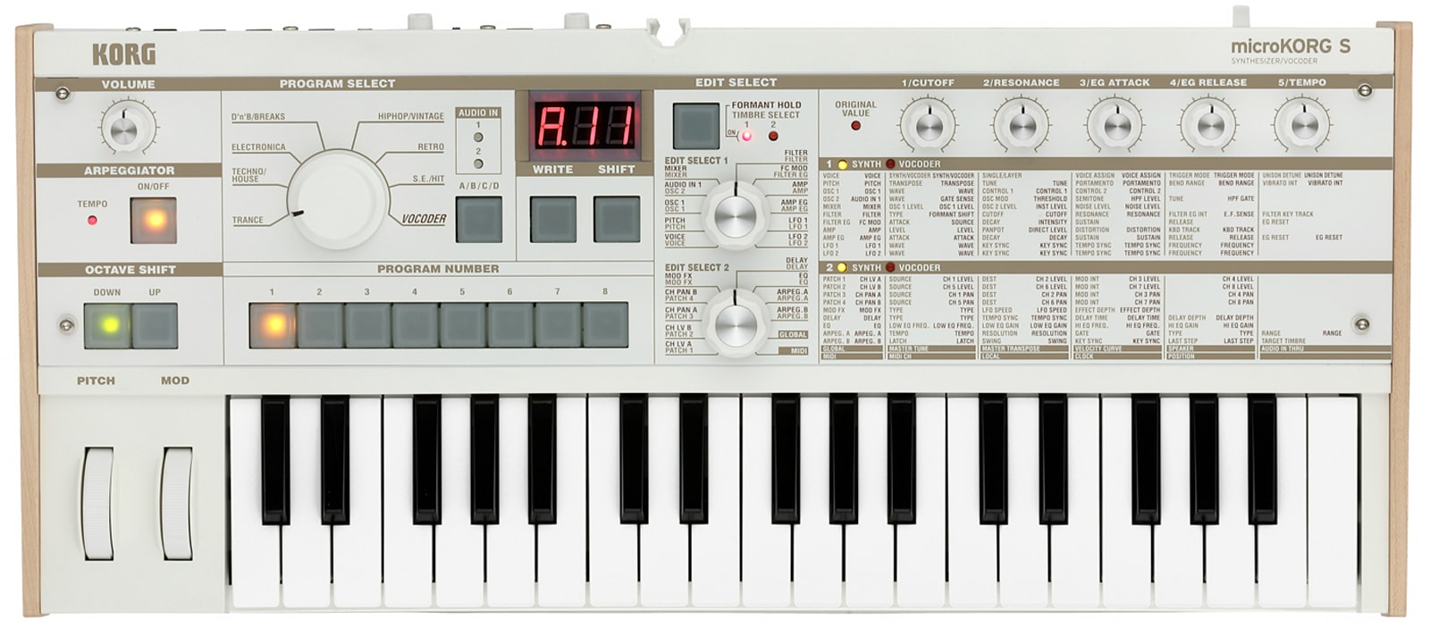 Korg announces microKorg-S with more sounds and user presets