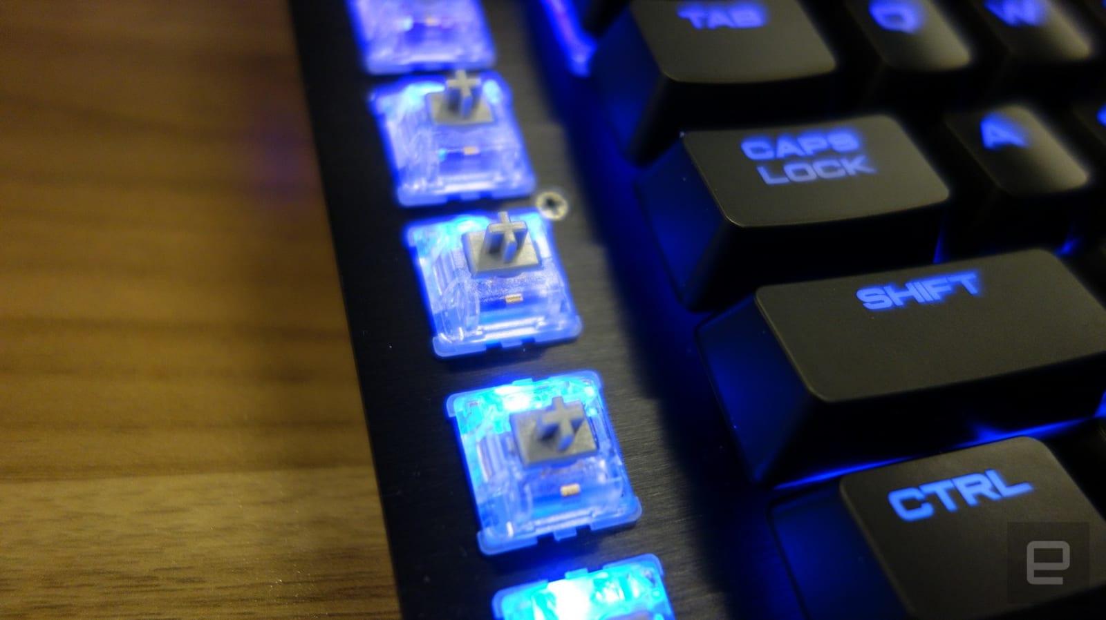 Corsair's new K95 gaming keyboard is surprisingly classy