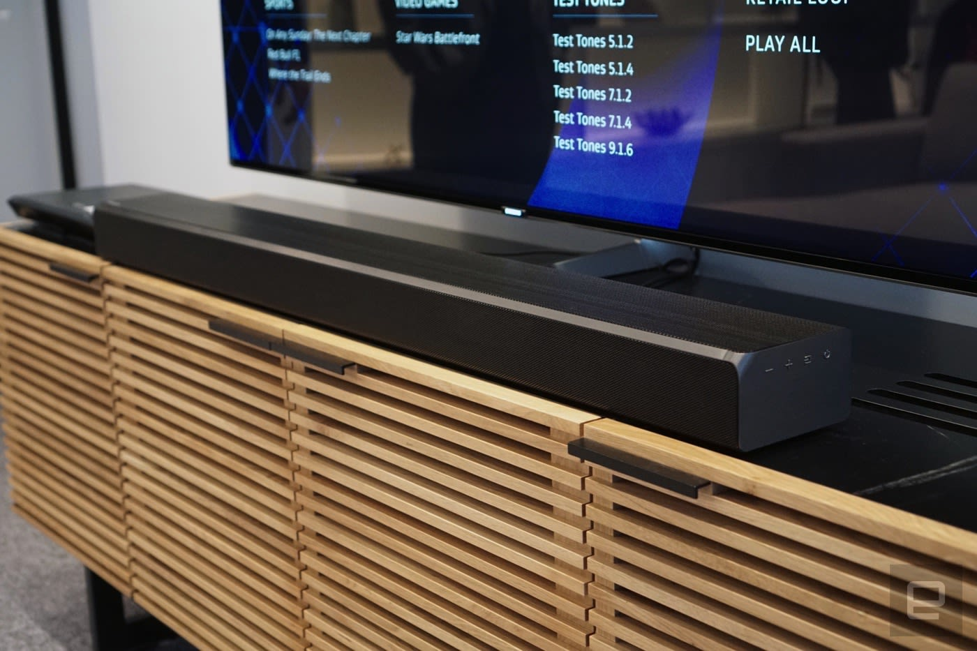 System Atmos Samsung's Cost 499 Soundbar Will 1 Engadget Dolby