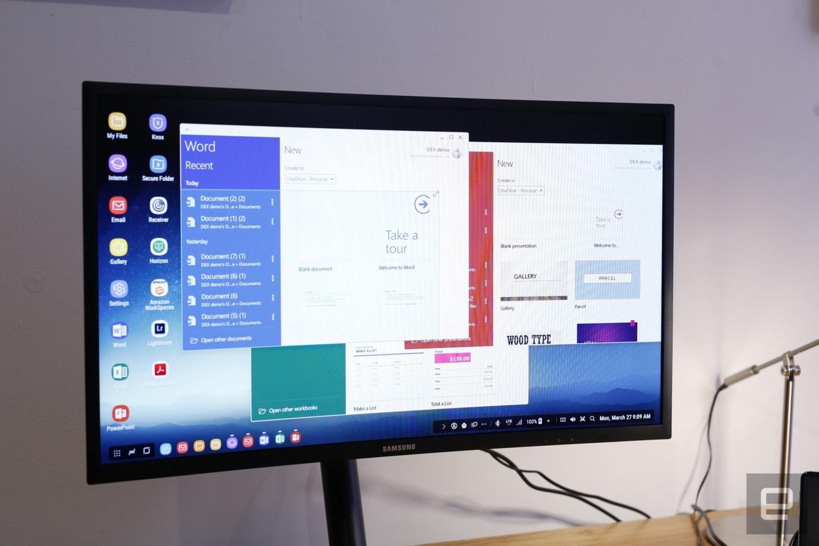 The Galaxy S8 can double as a pretend desktop