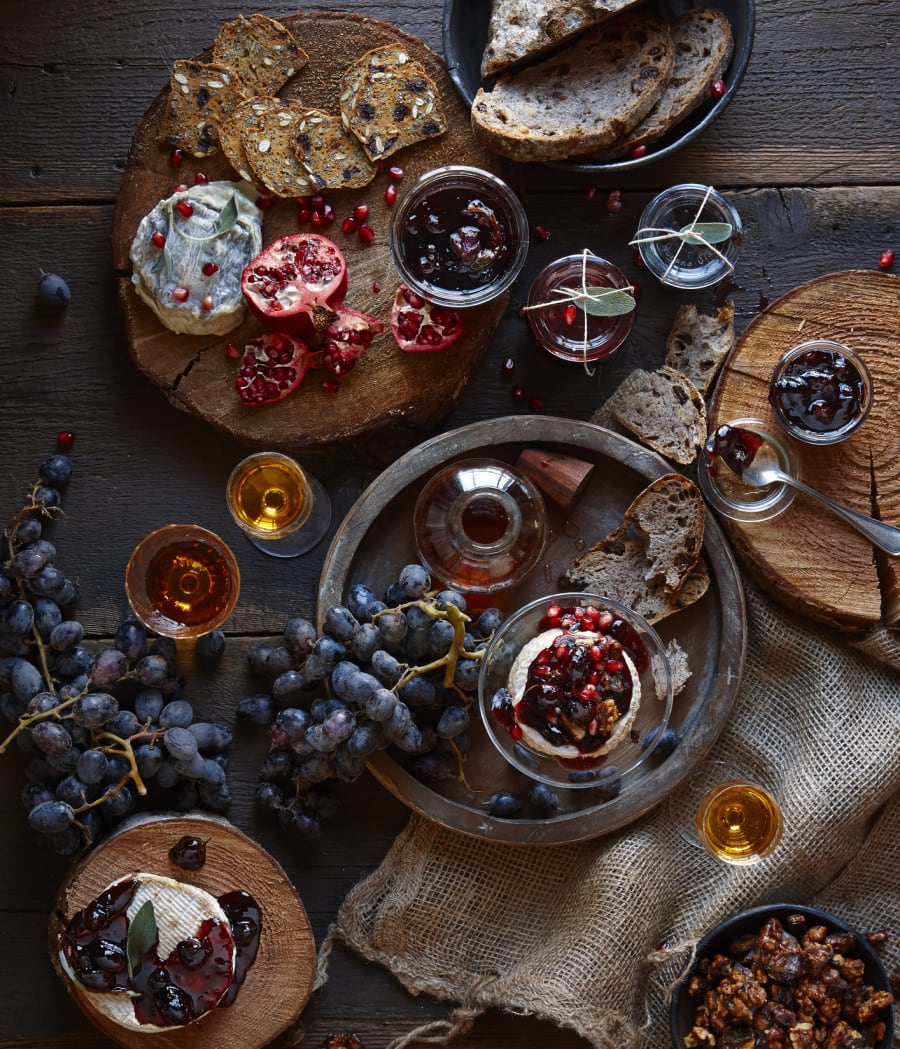 Experiment with a wide variety of cheeses, jams, fruit and
