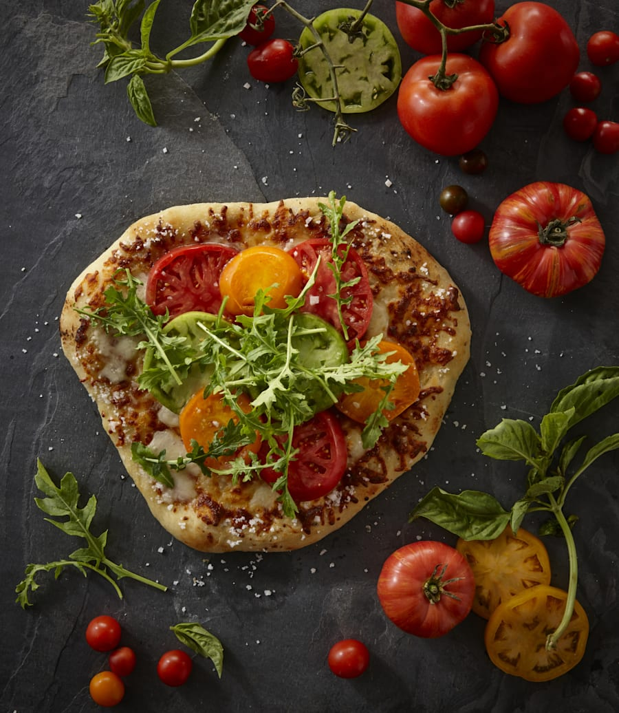 Ask for extra veggies and top with rocket for a punch of flavour. Better yet, make your own pizza at
