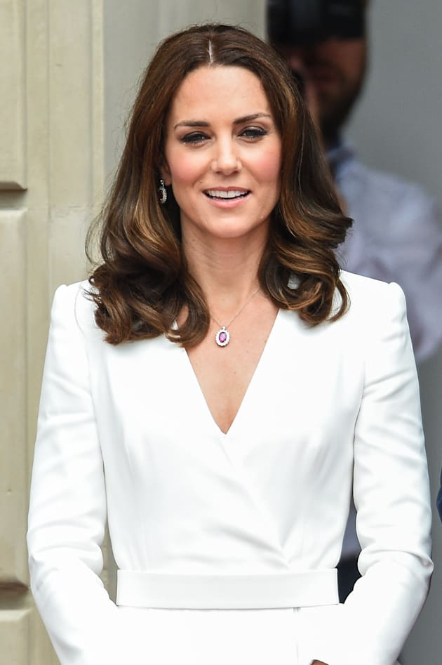 Kate Middleton at the Courtyard of the Presidential Palace on July 17, 2017 in Warsaw, Poland. William...