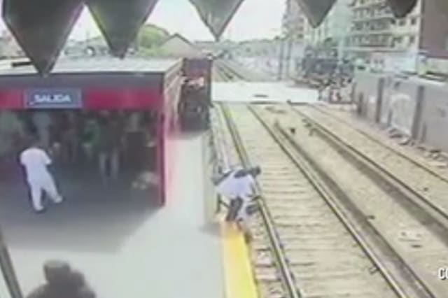 Woman lets daughter walk on tracks to avoid paying train fare