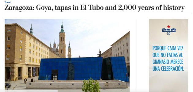Zaragoza enamora a 'The Washington