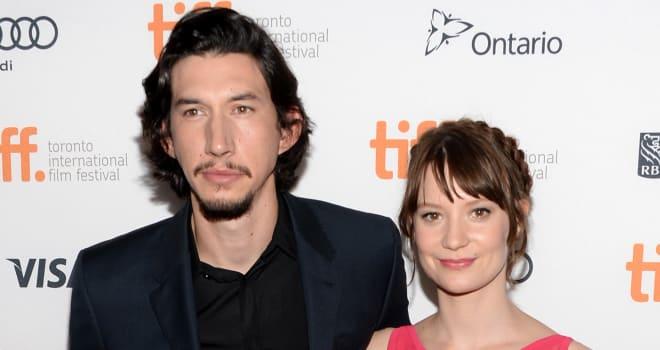 Adam Driver and Mia Wasikowska at the 'Tracks' Premiere at TIFF 2013