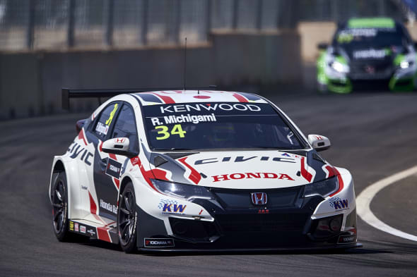 2017 EVENT: Race of Morocco  TRACK: Circuit Moulay El Hassan - Marrakech TEAM: Honda Racing Team JAS CAR: Honda Civic wtccDRIVER: Ryo Michigami
