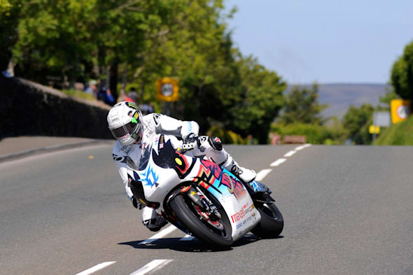 PACEMAKER PRESS BELFAST 10/06/2015: John McGuinness on the Mugen Shinden during the SES TT Zero race at the 2015 Monster Energy Isle of Man TT
