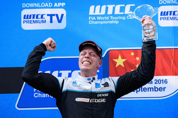 Thed Björk claims maiden WTCC victory on a historic weekend for Polestar Cyan Racing