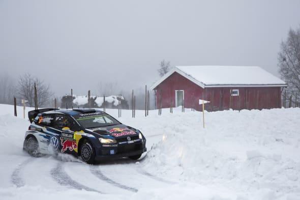 Andreas Mikkelsen (NOR), Ola Fløene (NOR)Volkswagen Polo R WRC (2015)Rally Sweden 2015