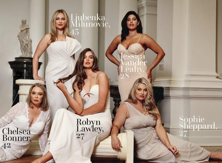 Milunovic with fellow Bella Model Management models in Stellar