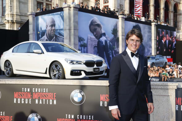 VIENNA, AUSTRIA - JULY 23: Tom Cruise attends the world premiere of 'Mission: Impossible - Rogue Nation' at the Opera House (Wiener Staatsoper) on July 23, 2015 in Vienna, Austria. (Photo by Franziska Krug/Getty Images for BMW)