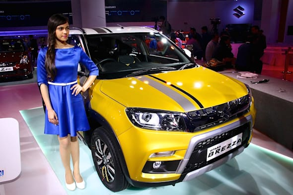 Auto Expo in New Dehli 2016 vitara brezza
