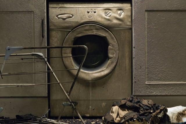 Washing machine fire (stock photo)