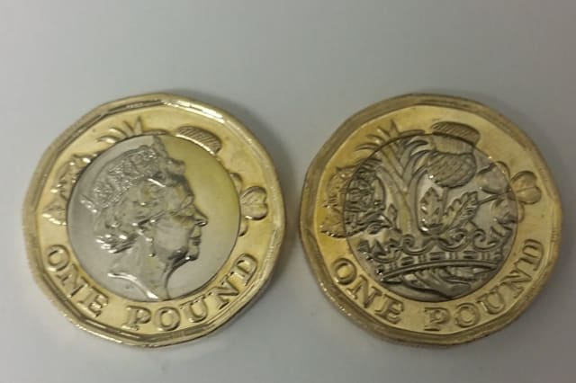 One of the 'error' £1 coins