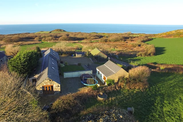 Aerial view of the barn conversion