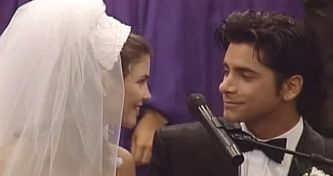 full house, wedding, aunt becky, uncle jesse, forever, anniversary