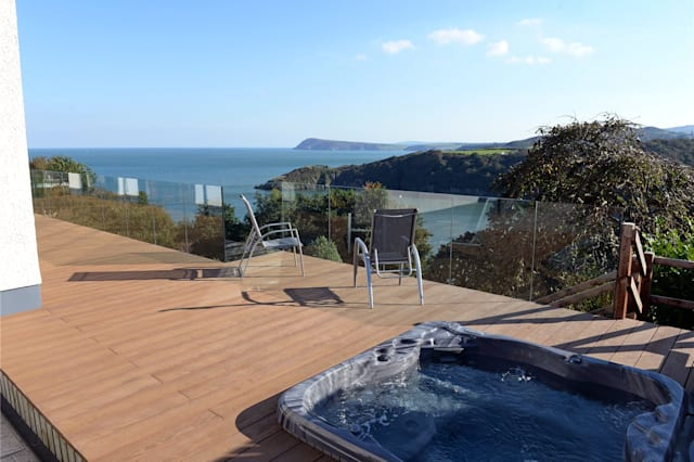 The view from the terrace of the Fishguard house