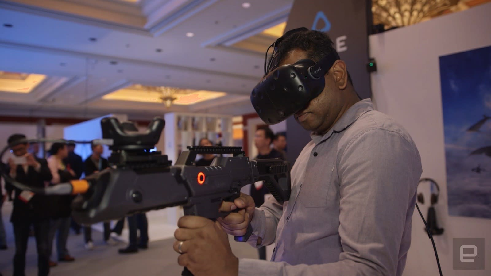 Watch HTC Vive's wireless VR adapter and object tracker in action
